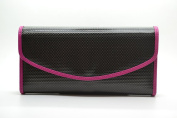 Pacer Go Carbon Fibre Genuine leather Women's Clutch Bag Wallet Hot Pink