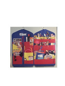 THE ORIGINAL ITSaKEEPER HANGING organiser FOR STUDENTS, TEACHERS, KNITTING, ARTISTS, NURSERY, CRAFTS, TOYS (VINTAGE) BLUE-RED.