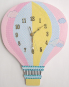Nursery Wall Clock, Nursery Hot Air Balloon Clock, Hot Air Balloon Clock, Children's Room Wall Clock, Hot Air Balloon Wall Clock, Kid's Room Clock