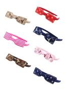 DUOQU 7 Pcs Multicolor Grosgrain Ribbon Boutique Hair Bows Hair Hoops Headbands Fashion Hair Accessories For Kids Teens