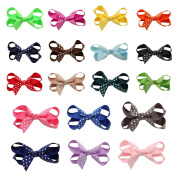 DUOQU 18 Colours 18 Pcs Baby Girl Grosgrain Ribbon Boutique Hair Bows Alligator Clips Fashion Hair Accessories For Teens Baby Girls Babies Toddlers
