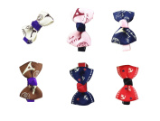DUOQU 7 Colours 7 Pcs Baby Girl Grosgrain Ribbon Boutique Hair Bows Alligator Clips Fashion Hair Accessories For Teens Baby Girls Babies Toddlers