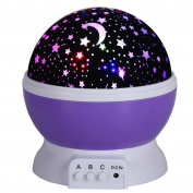 New Night Lighting Lamp Projection Lamp Romantic Projector 4 LED Beads of Warm Light Best Gift for Women & Children