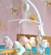 Baby Crib Mobile Music Box Holder Arm Bracket Nut Screw Box Mobile White-Without Toys