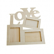 SORCO Hollow Love White Wooden Photo Frame Base DIY Picture Frame Art Home Decor