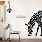 Huge Black Animal Zebra Bird Nest Removable Print Mural Art Decal Wall Sticker