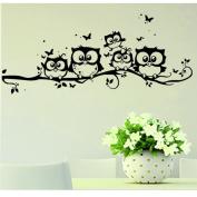 Bolayu Home Decal Kids Vinyl Art Cartoon Owl Butterfly Wall Sticker Decor