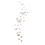 Bolayu 30PC DIY Butterfly Combination 3D Mirror Wall Stickers Home Decoration