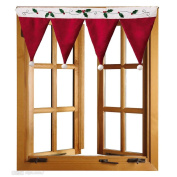 Bolayu Door Window Drape Panel Christmas Curtain Decorative Home