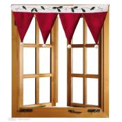 Bolayu Door Window Drape Panel Christmas Curtain Decorative Home