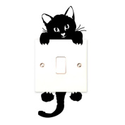 Bolayu New Cat Wall Stickers Light Switch Decor Decals Art Mural Baby Nursery Room