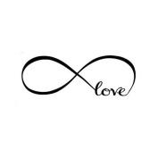 Bolayu 44*120CM Wall Stickers Bedroom Decor Infinity Symbol Word Love Vinyl Art