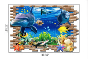 Bestwoohome Underwater World Wall Stickers Removable Murals for Children Room