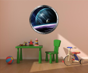 60cm Porthole Instant Outer Space Ship Window View PLANETS #1 SILVER Wall Decal Kids Sticker Room Home Art Décor Graphic MEDIUM