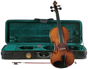Cremona SV-225 Premier Student Violin Outfit 3/4 Size, Flamed Antiqued Body, Prelude Strings, Deluxe Case