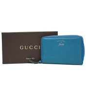 Gucci Swing Leather Zip Around Wallet 354497, Blue