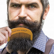 Hand Crafted 100% Wooden Beard Comb - Pocket Size Moustache Care For Men