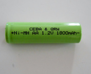 2 Pcs - Nimh 1.2v AA 1800 mAh Shaver Battery Upgrade with Solder Tabs for Braun, Norelco, Remington Shaver Models