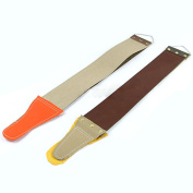Bluelans® 1 x Canvas Leather Strop with Handle for Barber Straight Razor Knife Shaving Shave