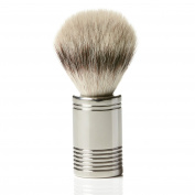 Performance Synthetic + Vegan Silvertip, Solid Polished Stainless Steel, Shaving Brush