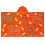 Breganwood Organics Kids Hooded Towel, Jungle - Orange