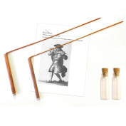 Dowsing rod copper material 99% - ghost hunting, divining water, gold, buried items, etc. Instructions and video sources included - 13cm x 33cm - nontoxic