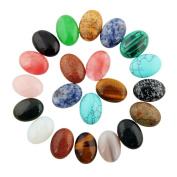 10pcs 25x18mm Mixed Healing Crystal Beads Oval CAB Cabochon Teardrop Stone Wholesale Beads