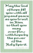 Endless Inspirations Original Cross Stitch Pattern, Romans 15:13