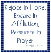 Endless Inspirations Original Cross Stitch Pattern, Romans 12:12