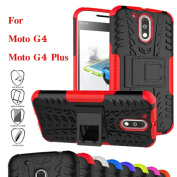 Moto G4 Case, Moto G4 Plus Case, Asstar Shockproof Heavy Duty Combo Hybrid Rugged Dual Layer Grip Cover with Kickstand For Motorola Moto G4 / G4 Plus