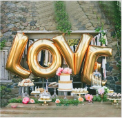 B-G LOVE (110cm ) Large Balloon Set, Romantic Wedding, Bridal Shower, Anniversary, Engagement Party Décor, BirthdayDécor, Vow Renewal H009
