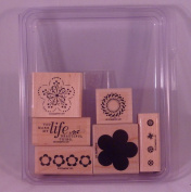 Stampin Up! A BEAUTIFUL THING Set of 6 Decorative Rubber Stamps Retired