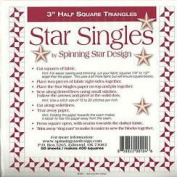 Star Singles Half Square Triangle Singles 7.6cm Spinning Star Design
