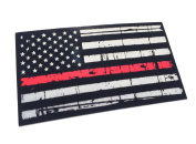 Tattered 9.5cm x 6.6cm Thin Red Line United States Flag Tactical Firefighter Emt Paramedics 3m Reflective Decal Sticker