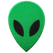 1 X Alien Head Iron on Patches