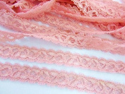 10 yards Elastic/Spandex Soft Floral Lace 1.3cm Trim/sewing/dress/tool T158-Pink US Seller Ship Fast