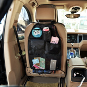 Cimostar Car Auto Front or Back Seat Organiser,Multi-pocket Travel Storage Bags,Black