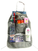 Ultimate Storage Backseat Organiser and Kick Mat in Grey by Luvit