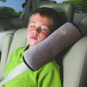 JHD Auto Pillow Car Safety Belt Protect Shoulder Pad Adjust Vehicle Seat Belt Cushion for Kids Children (Grey)
