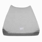 Burt's Bees Baby Classic Stripe Changing Pad Cover, Heather Grey