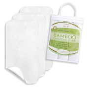 Reusable XL Bamboo Changing Pad Liners, 3 Pack, 90cm x 46cm Waterproof , Antibacterial, Machine Washable