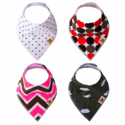 Taram Baby Bandana Drool Bib with two Adjustable Snaps Absorbent Organic Cotton