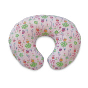 Classic Cottony Cute Pillow Slipcover in Classic Owls & Flowers Pink