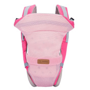 BestBaby 4 in 1 Multifunctional Comfortable Breathable Soft Infant Baby Kid Carrier Adjustable Child Toddler Wrap Backpack - Pink