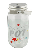 "Comical ""Swear Pot"" Multi-coloured Glass Money Jar by Haysom Interiors"