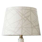 Flocked Criss Cross Pattern Lamp Shade Small - Cream - ThresholdTM
