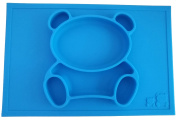 Cuca Dunna Happy Mat Silicone Baby Placemat With Plate, Toddler Tray