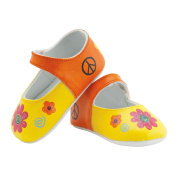 Hand Painted Baby Shoes, Flower Child, 0-9 Months