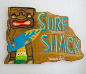 Huntington Beach , surf shack, wood wall decor plaque , Souvenir surf decor