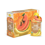 Happy Baby Clearly Crafted, Organic Baby Food, Stage 2, Bananas, Sweet Potatoes & Papayas, 120ml Clear Pouch
